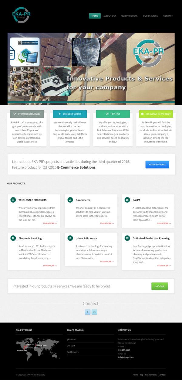 EKA-PR Trading – Website