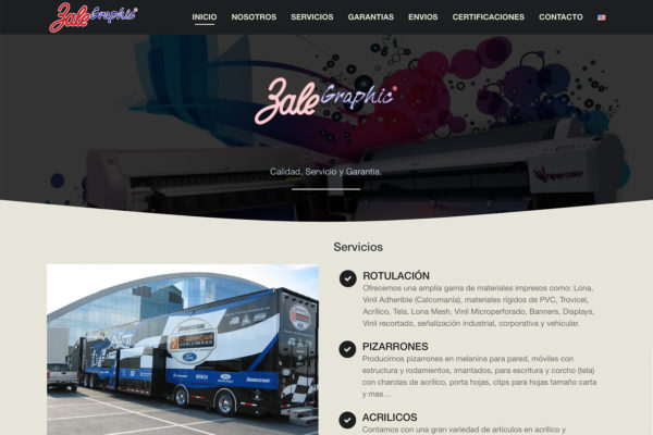 Zale Graphic – Website