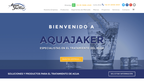 Aquajaker – Website