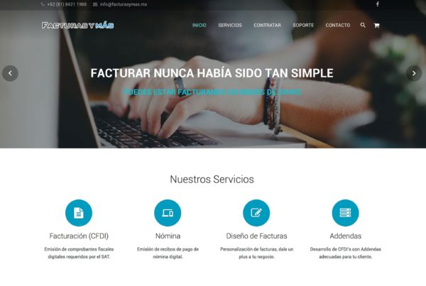 Facturas y Más – Website